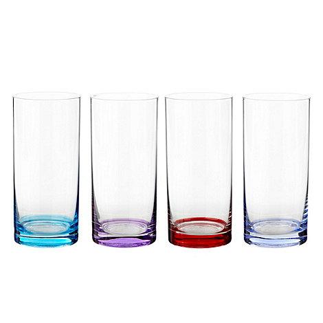 Ben de Lisi Home - Set of four coloured base high ball glasses