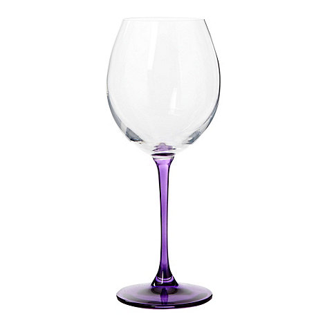 Ben de Lisi Home - Purple +coloured stem+ wine glass
