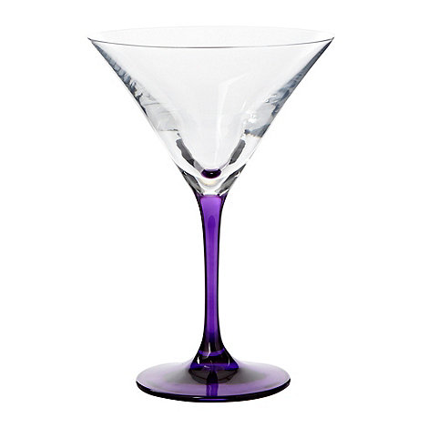 Ben de Lisi Home - Purple +coloured stem+ cocktail glass