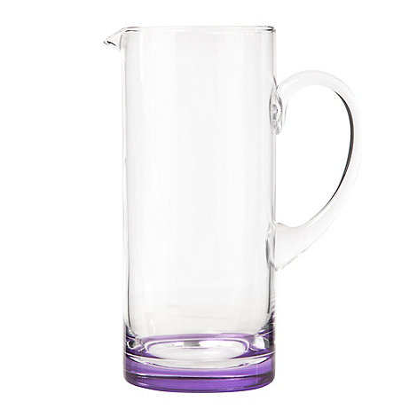 Ben de Lisi Home - Glass purple base 1.3l jug