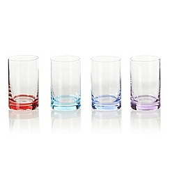 Ben de Lisi Home - Designer set of four coloured base shot glasses