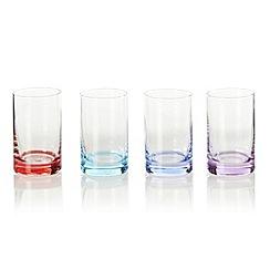 Ben de Lisi Home - Designer set of four coloured base shot glasses