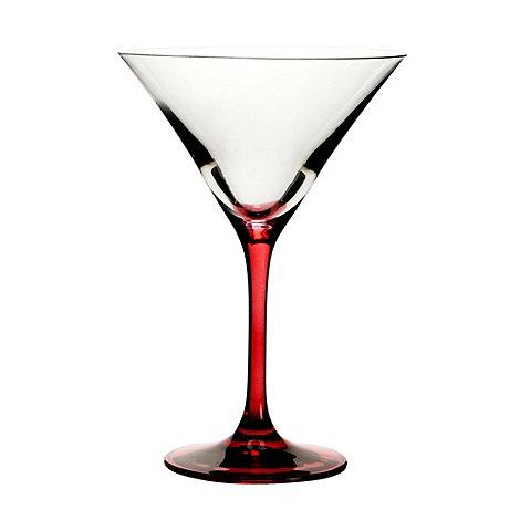 Ben de Lisi Home - Designer individual red stem cocktail glass