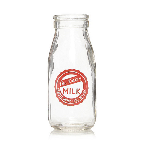 Ben de Lisi Home - Designer glass +Milk+ bottle
