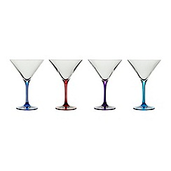 Ben de Lisi Home - Designer set of four colour martini glasses