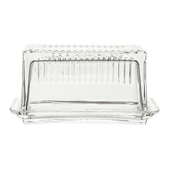 Ben de Lisi Home - Designer glass cut butter dish