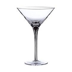 Betty Jackson.Black - Designer black 'Tear Drop' stem martini glass