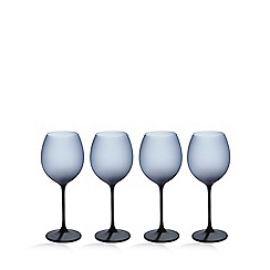 Betty Jackson.Black - Set of four dark blue 'graded' wine glasses