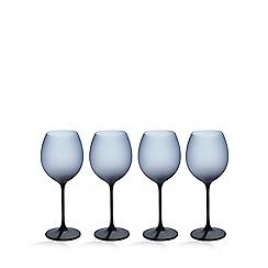 Betty Jackson.Black - Set of four dark blue 'graded' wine glasses