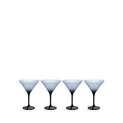 Betty Jackson.Black - Set of 4 'graded' dark blue martini glasses