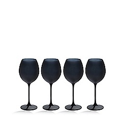 Betty Jackson.Black - Set of four black 'graded' wine glasses