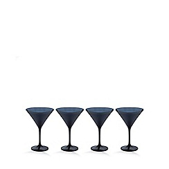 Betty Jackson.Black - Set of 4 'graded' black martini glasses