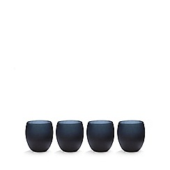 Betty Jackson.Black - Set of four black 'graded' glass tumblers