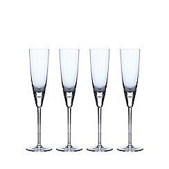 Betty Jackson.Black - Set of 4 blue 'Bubble' champagne flutes