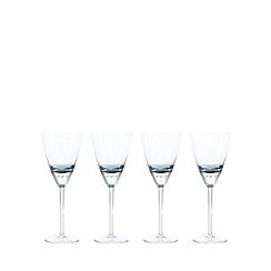 Betty Jackson.Black - Set of 4 blue 'Bubble' goblets