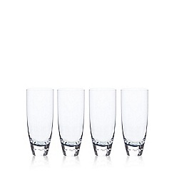 Betty Jackson.Black - Set of 4 blue 'Bubble' hi-ball glasses