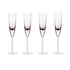 Betty Jackson.Black - Set of 4 purple 'Bubble' champagne flutes