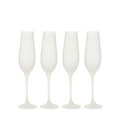 Betty Jackson.Black - Set of four white flutes