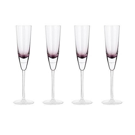 Betty Jackson.Black - Purple +Bubble+ champagne flute