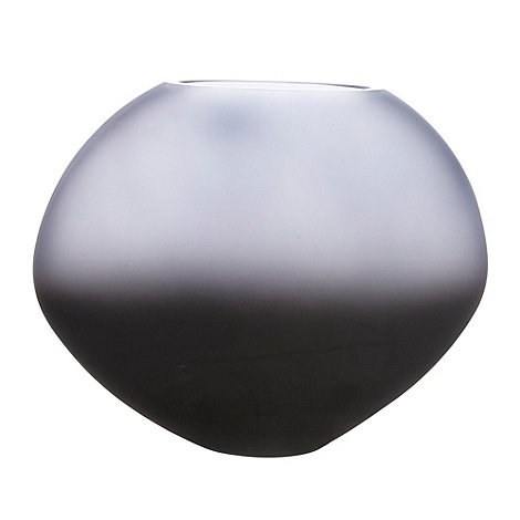 Betty Jackson.Black - Graded dark blue oval vase