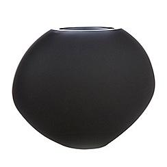 Betty Jackson.Black - Graded black oval vase