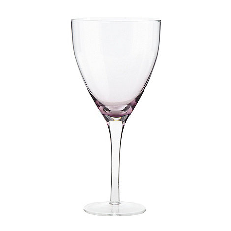 Betty Jackson.Black - Designer +Sophia+ purple wine glass