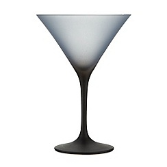Betty Jackson.Black - Graded dark blue martini glass