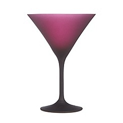 Betty Jackson.Black - Designer dark red 'Graded' martini glass