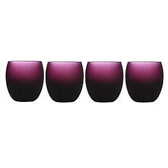 Betty Jackson.Black - Set of four designer dark red 'Graded' glass tumblers