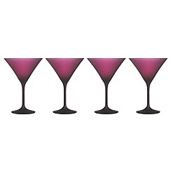 Betty Jackson.Black - Set of four designer dark red 'Graded' martini glasses