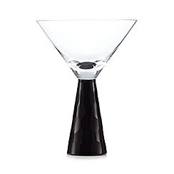 Star by Julien MacDonald - Black cut stem martini glass