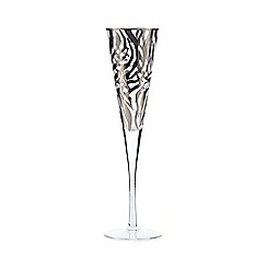 Star by Julien Macdonald - Silver zebra glass flute