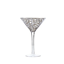 Star by Julien Macdonald - Silver 'Zebra' martini glass