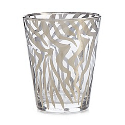 Star by Julien Macdonald - Silver zebra tumbler glass