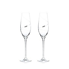 Star by Julien Macdonald - Set of two swirl diamante glass flutes