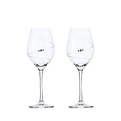Star by Julien Macdonald - Designer set of two glass Swarovski hand-cut swirl wine glasses