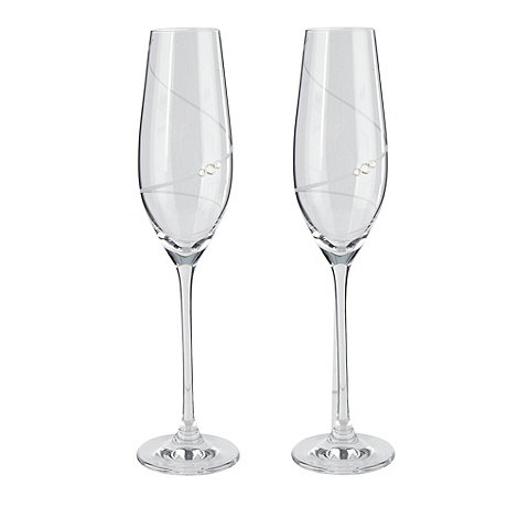 Star by Julien Macdonald - Set of 2 hand crafted 'Swirl' champagne flutes