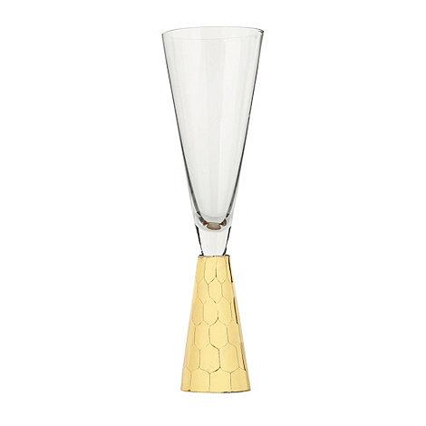 Star by Julien Macdonald - Gold +Cut Stem+ champagne flute