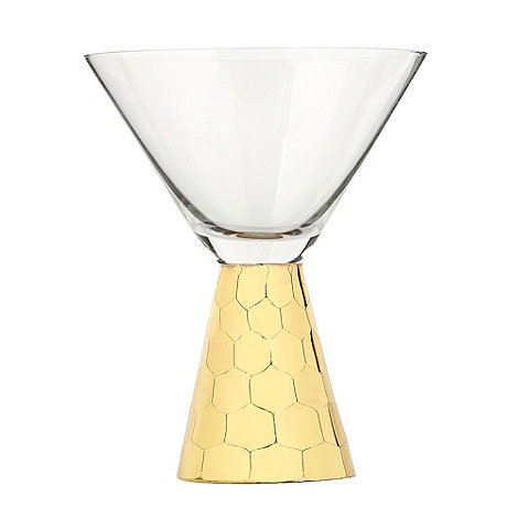 Star by Julien Macdonald - Gold +Cut Stem+ cocktail glass