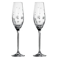 Royal Doulton - Set of two 'Twinkle' crystal gift boxed toasting flutes