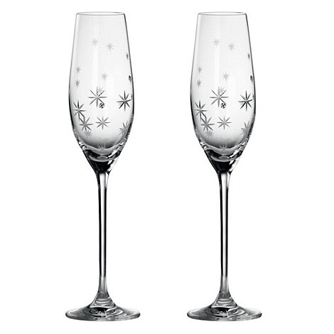 Royal Doulton - Set of two +Twinkle+ crystal gift boxed toasting flutes