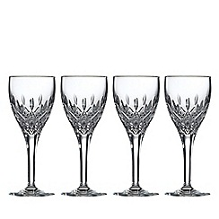 Royal Doulton - Set of 4 lead crystal 'Highclere' wine glasses