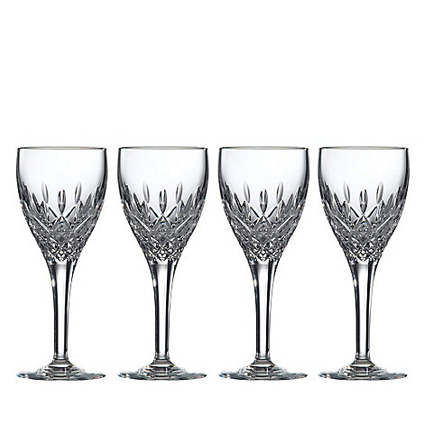 Royal Doulton - Box of four 24% lead crystal +Highclere+ wine glasses
