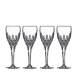 Royal Doulton - Set of 4 lead crystal 'Highclere' sherry glasses