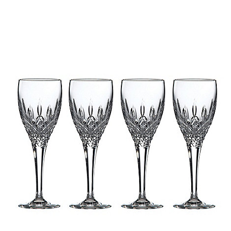 Royal Doulton - Set of 4 lead crystal +Highclere+ sherry glasses