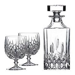 Royal Doulton - Three-piece brandy decanter set