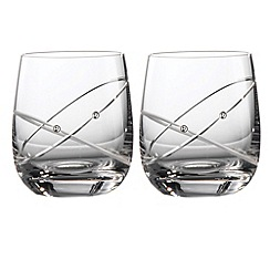 Royal Doulton - Set of two crystaline 'Promises With This Ring' tumblers