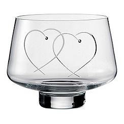 Royal Doulton - Promises Two Hearts Entwined' crystalline bowl