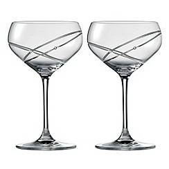 Royal Doulton - Promises With This Ring' crystalline two piece cocktail glasses