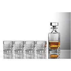Royal Doulton - Crystalline linear decanter and tumbler set